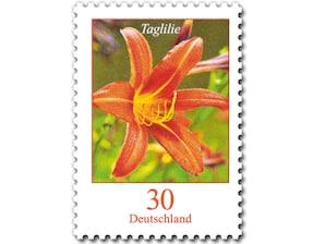 Taglilie, Briefmarke zu 0,30 EUR, 10er-Bogen