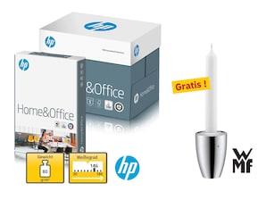 4 Kartons hp Home & Office Papier + WMF-Kerzenleuchter Jette, gratis