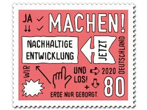 Nachhaltige Entwicklung, nassklebende Briefmarke zu 0,80 EUR