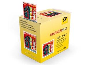 """Markenbox """"Der Wolf und die sieben jungen Geißlein"""", selbstklebende Briefmarken zu 0,80m+ 0,40 EUR, 100er-Box"""