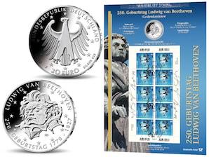 "Numisblatt: ""250. Geburtstag Ludwig van Beethoven"""