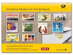 """Steckkarte """"Attraktive Marken für Ihre Briefpost"""""""