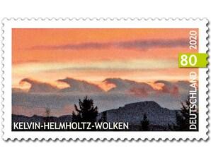 Kelvin Helmholtz Wolken, Briefmarke zu 0,80 EUR, 10er-Bogen