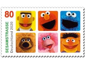 Sesamstrasse, Briefmarke zu 0,80 EUR, 10er-Bogen