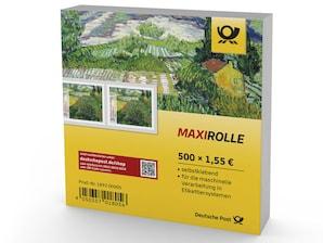 "Maxirolle ""Vincent van Gogh - Mohnfeld"", Briefmarke zu 1,55 EUR, 500er-Box"