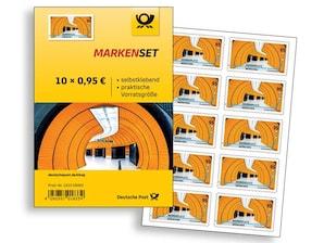 """Markenset """"Marienplatz München"""", selbstklebende Briefmarke zu 0,95 EUR, 10er-Set"""