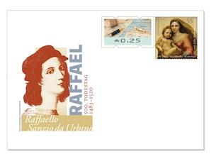 """Gedenkbriefumschlag """"500. Todestag Raffael"""""""