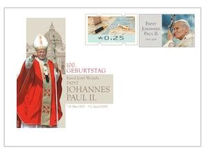 "Gedenkbriefumschlag ""100. Geburtstag Papst Johannes Paul II"""