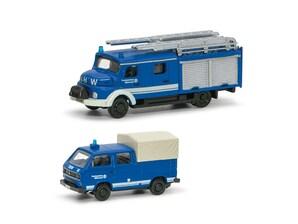 """2er-Set VW T3 """"THW"""", 1:160"""
