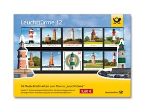 """Steckkarte """"Leuchttürme auf Briefmarken 12"""""""
