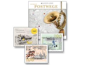 """Schmuckblatt """"Multilaterale Europa - Historische Postwege"""""""