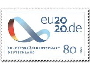 EU-Ratspräsidentschaft, Briefmarke zu 0,80 EUR, 10er-Bogen
