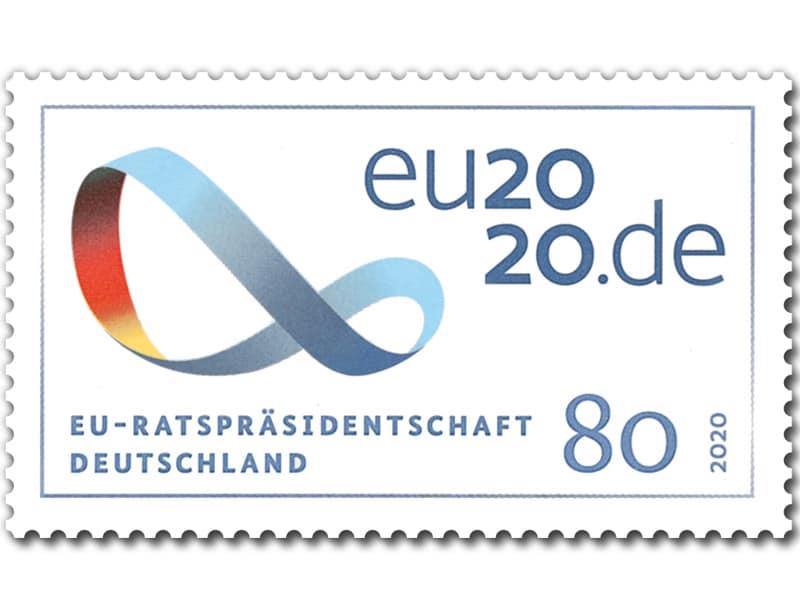 德国7月2日发行德国担任欧盟轮值主席国邮票