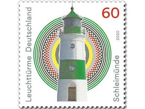 Leuchtturm Schleimünde, Briefmarke zu 0,60 EUR, 10er-Bogen