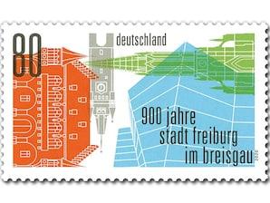 900 Jahre  Stadt Freiburg im Breisgau, Briefmarke zu 0,80 EUR, 10er-Bogen