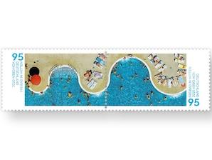 Freibad in Witten, Briefmarke zu 0,95 EUR, 10er-Bogen