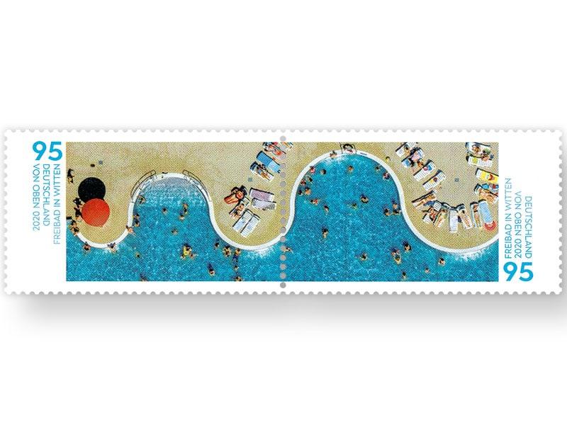 德国7月2日发行维滕的室外游泳池邮票