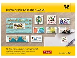 """Steckkarte: """"Briefmarken-Kollektion 2/2020"""""""