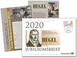 """Jubiläumsbrief """"250. Geburtstag Georg Wilhelm Friedrich Hegel"""""""