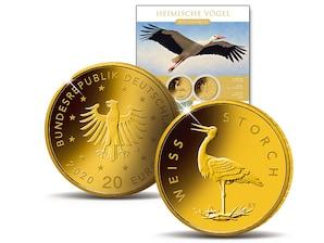"""20-Euro-Goldmünze """"Weißstorch"""""""