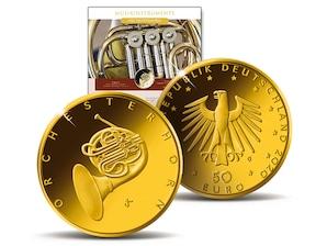 """50 Euro Goldmünze """"Orchesterhorn"""""""