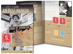 """Erinnerungsblatt """"75 Jahre AM-Post-Marken"""""""