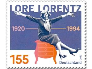 100. Geburtstag Lore Lorentz, Briefmarke zu 1,55 EUR, 10er-Bogen
