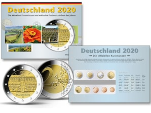 Kursmünzen der Prägestätte Hamburg (J) 2020