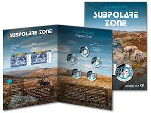 """Numiskarte """"Subpolare Zone"""", Spiegelglanz"""