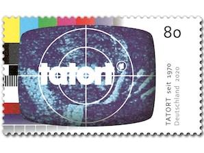 50 Jahre Tatort, Briefmarke zu 0,80 EUR, 10er-Bogen
