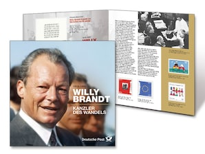 """Schmuckblatt """"Willy Brandt - Kanzler des Wandels"""""""
