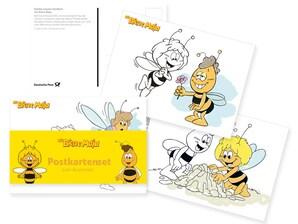 "3er-Ausmal-Postkarten-Set ""Biene Maja"""