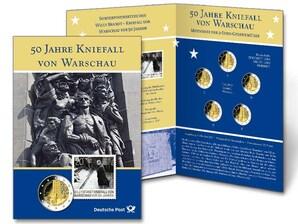 """Gedenkblatt """"50 Jahre Kniefall von Warschau"""""""
