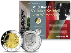 """Numiskarte """"50 Jahre Kniefall von Warschau"""""""
