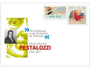 """Gedenkbriefumschlag """"275. Geburtstag Johann Heinrich Pestalozzi"""""""
