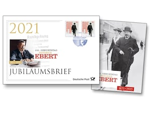 """Jubiläumsbrief """"150. Geburtstag Friedrich Ebert"""""""