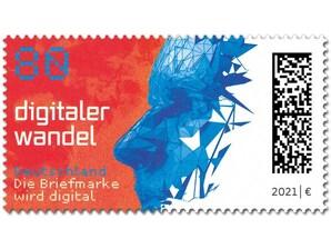 Digitaler Wandel, nassklebende Briefmarke zu 0,80 EUR, 10er-Bogen