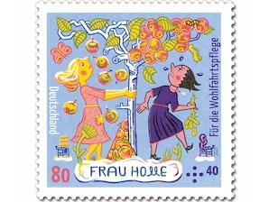 """Grimms Märchen - Frau Holle """"Die Prüfung"""", Briefmarke zu 0,80 + 0,40 EUR, 10er-Bogen"""