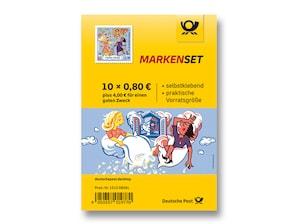 """Markenset """"Grimms Märchen ¿ Frau Holle"""", Briefmarke zu 0,80 + 0,40 EUR, 10er-Set"""