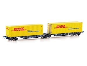 "Containertragwagen Sggmrs 90, ""DHL"", Ep. VI, H0"