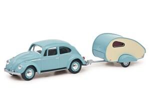 VW Käfer mit Wohnanhänger, 1:64