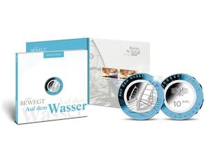 """Numisfolder Münze & Marke: """"Auf dem Wasser"""""""
