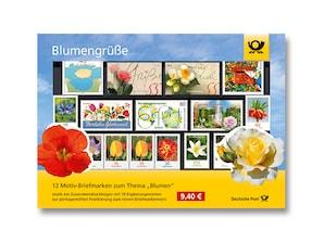 "Steckkarte ""Blumengrüße"""