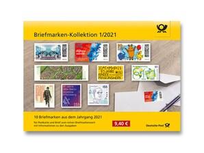 """Steckkarte: """"Briefmarken-Kollektion 1/2021"""""""