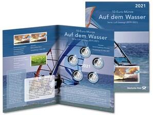 """Numiskarte """"Auf dem Wasser"""", Spiegelglanz"""