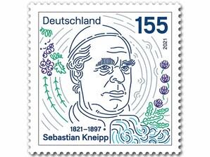 200. Geburtstag Sebastian Kneipp, Briefmarke zu 1,55 EUR, 10er-Bogen