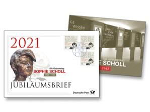 """Jubiläumsbrief """"100. Geburtstag Sophie Scholl"""""""