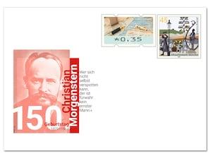 """Gedenkbriefumschlag """"150. Geburtstag Christian Morgenstern"""""""