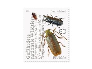 Gefährdete Wildtiere, Briefmarke zu 0,80 EUR, 10er-Bogen