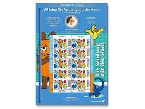 """Numisblatt """"50 Jahre Die Sendung mit der Maus"""""""